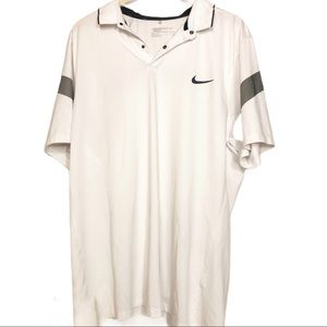 Nike Golf Dri Fit Men's White Polo Shirt XXL